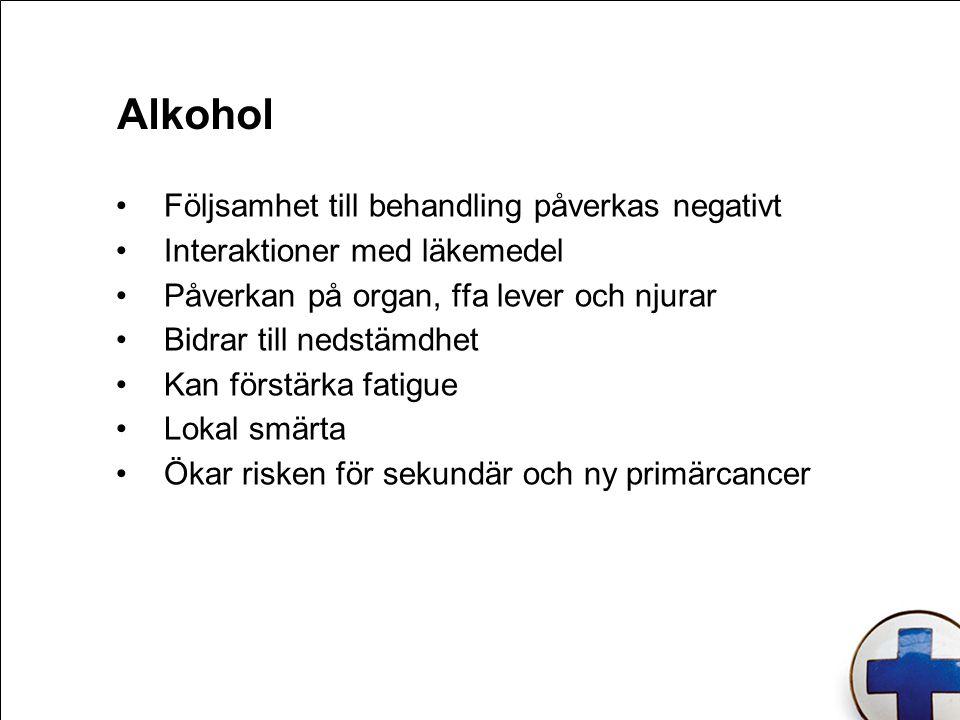 Alkohol Följsamhet till behandling påverkas negativt