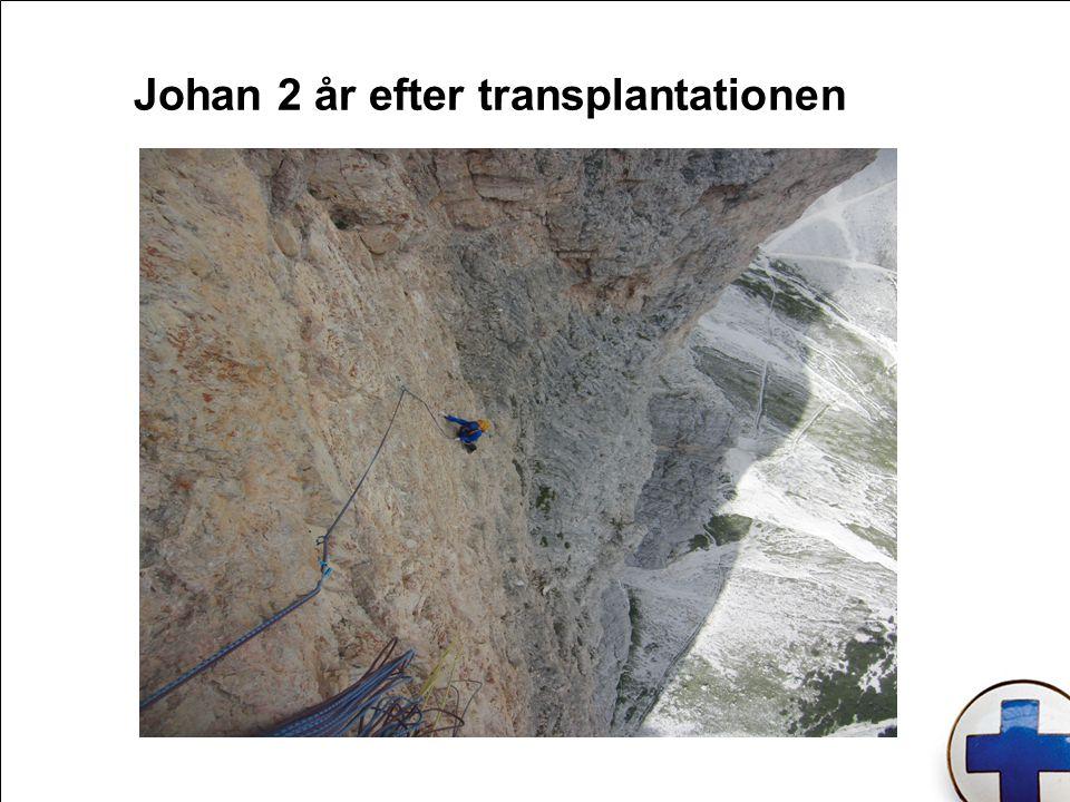 Johan 2 år efter transplantationen