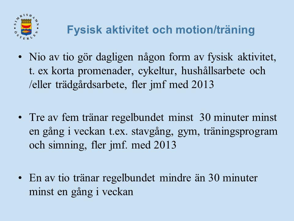 Fysisk aktivitet och motion/träning