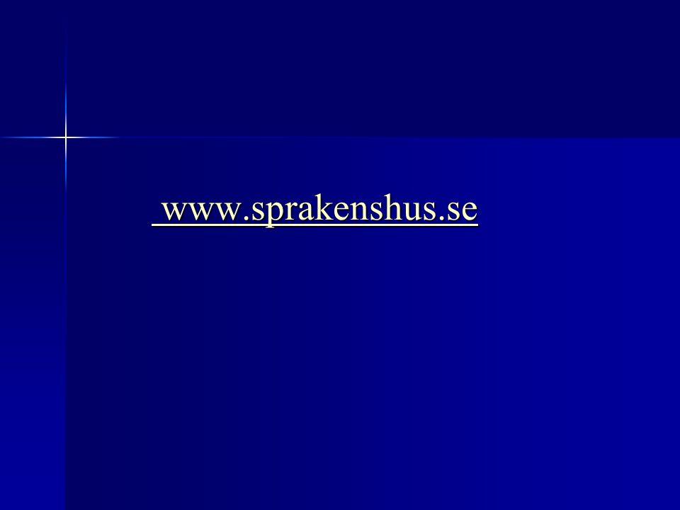 www.sprakenshus.se Eva-Kristina Salameh Logkurs 5p