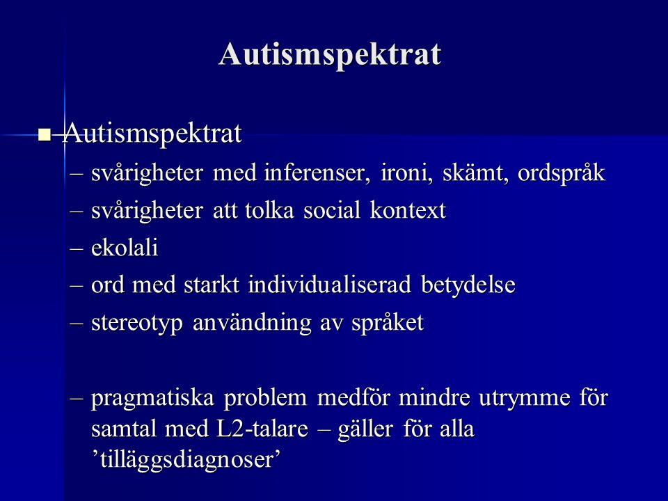 Autismspektrat Autismspektrat