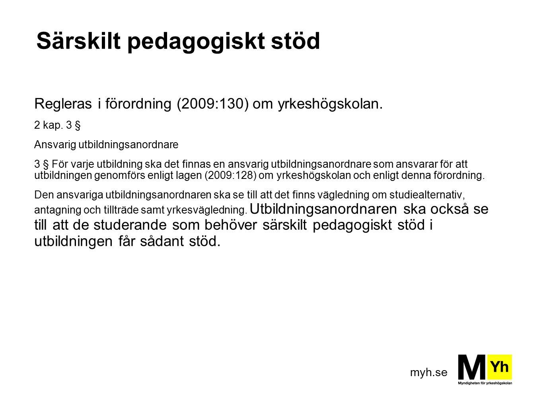 Särskilt pedagogiskt stöd