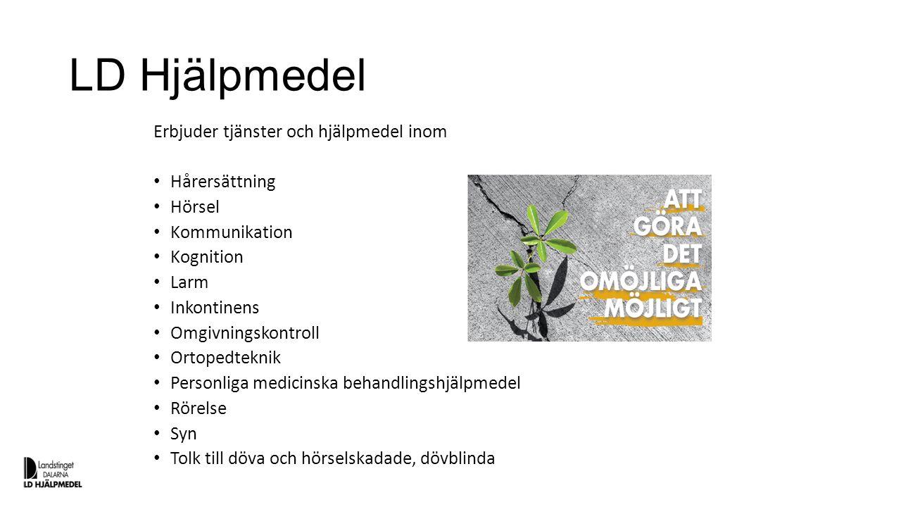 LD Hjälpmedel Erbjuder tjänster och hjälpmedel inom Hårersättning