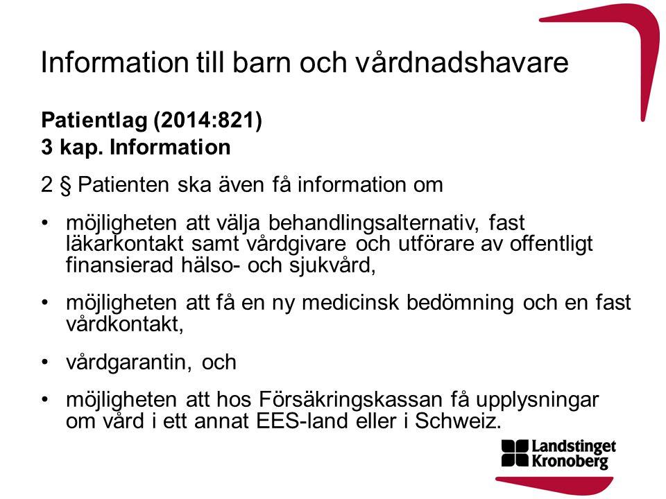Information till barn och vårdnadshavare