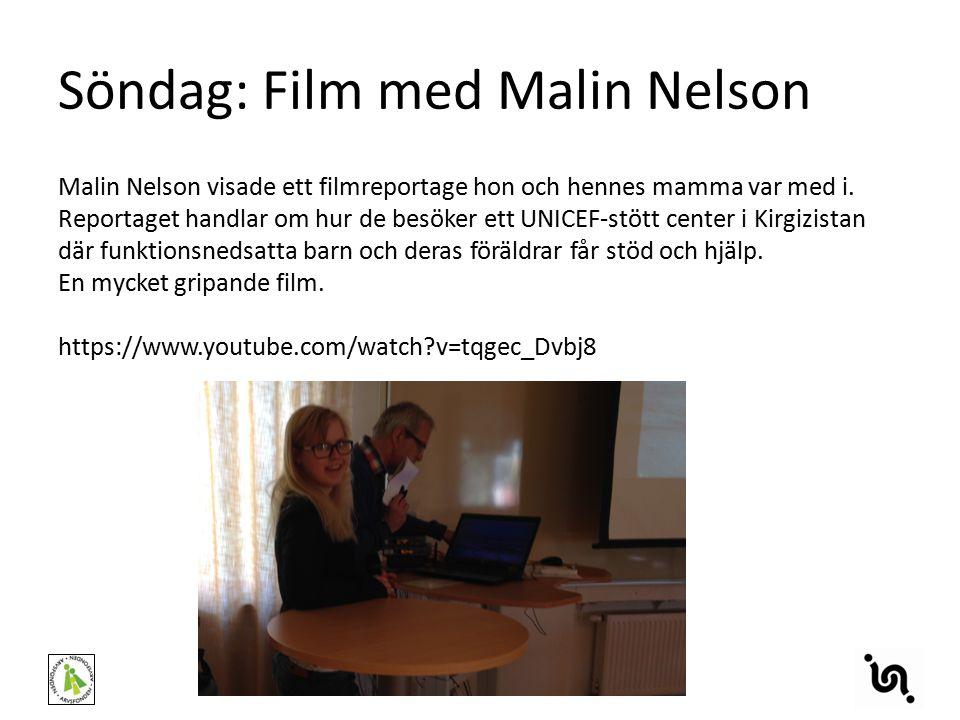 Söndag: Film med Malin Nelson