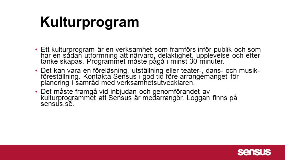 Kulturprogram