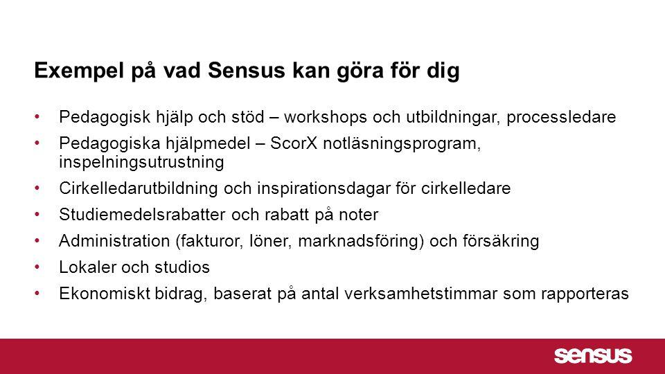 Exempel på vad Sensus kan göra för dig
