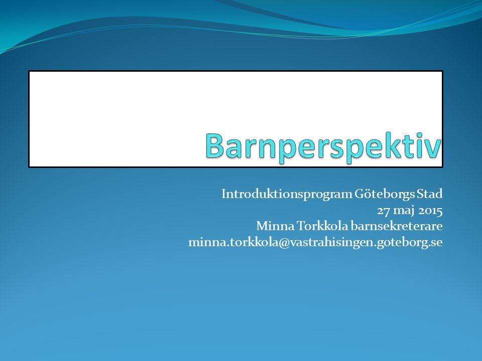 Barnperspektiv Introduktionsprogram Göteborgs Stad 27 maj 2015