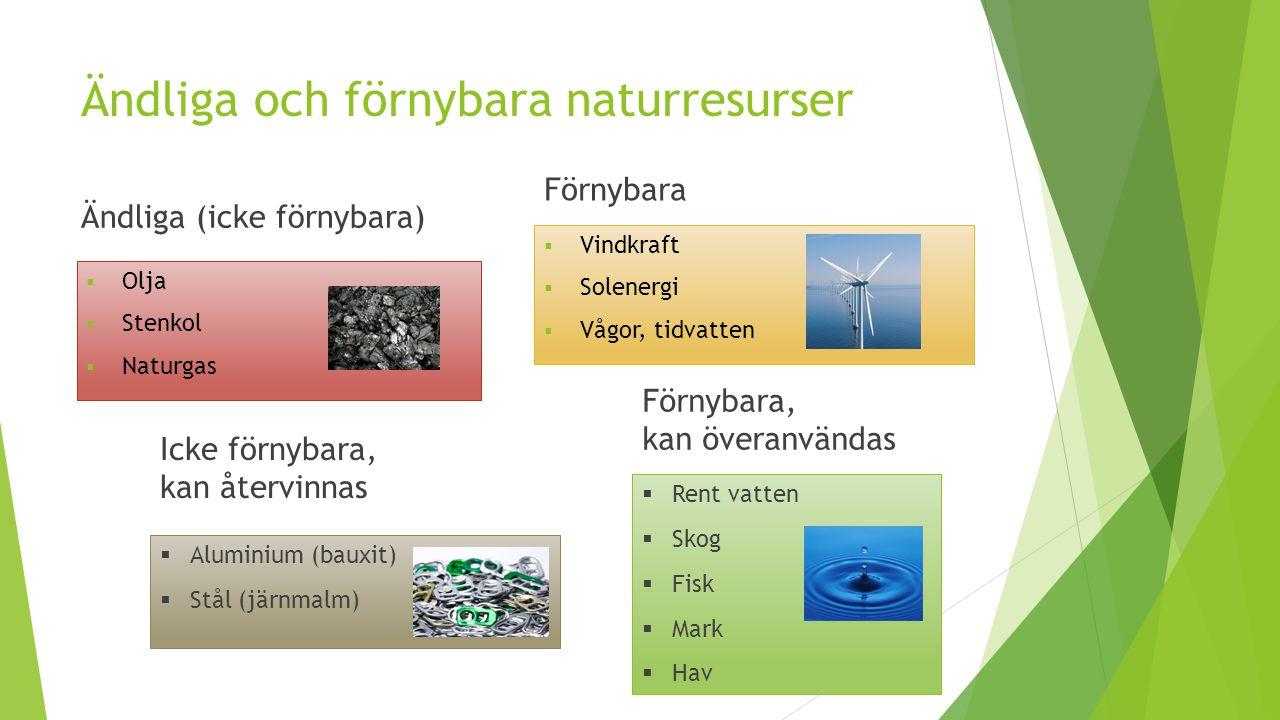 Ändliga och förnybara naturresurser