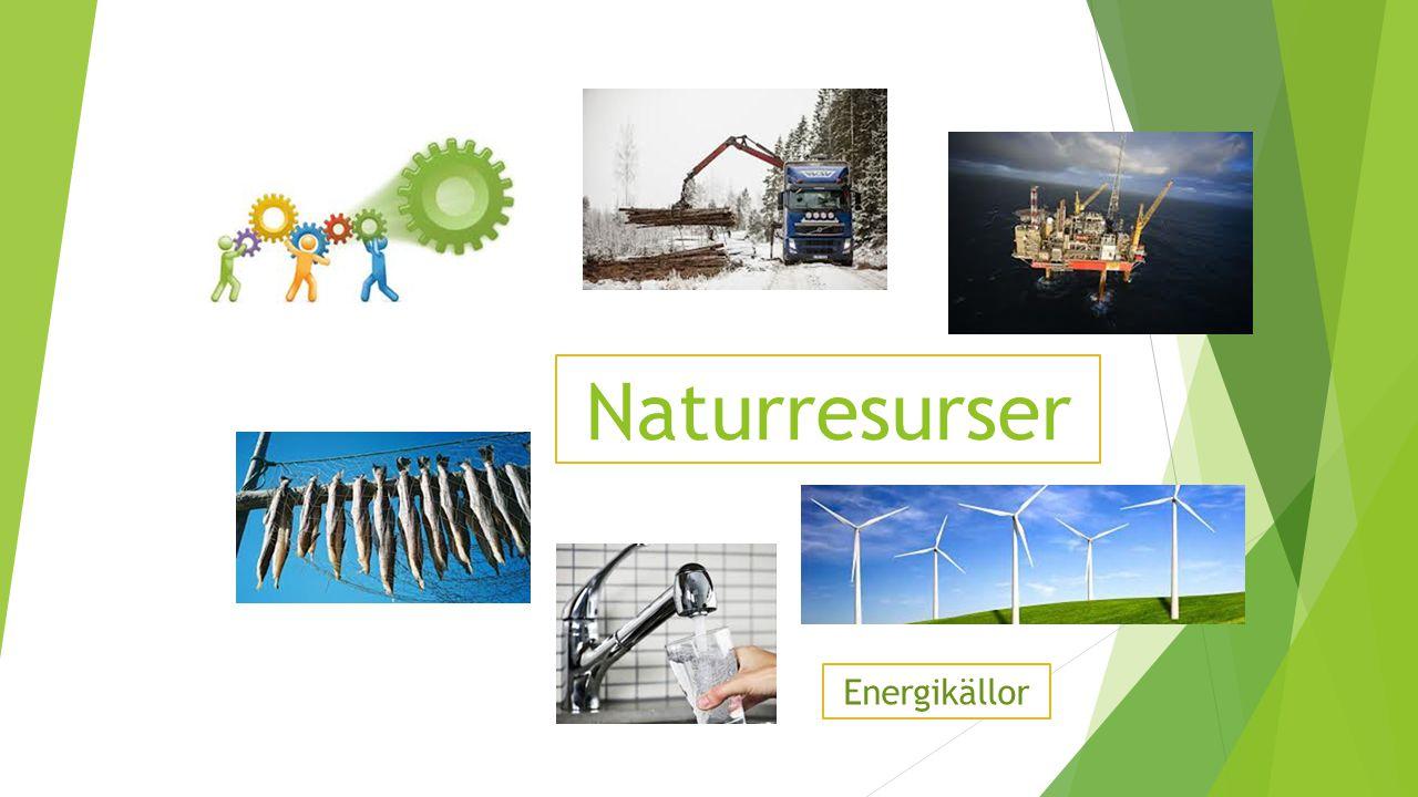 Naturresurser Energikällor