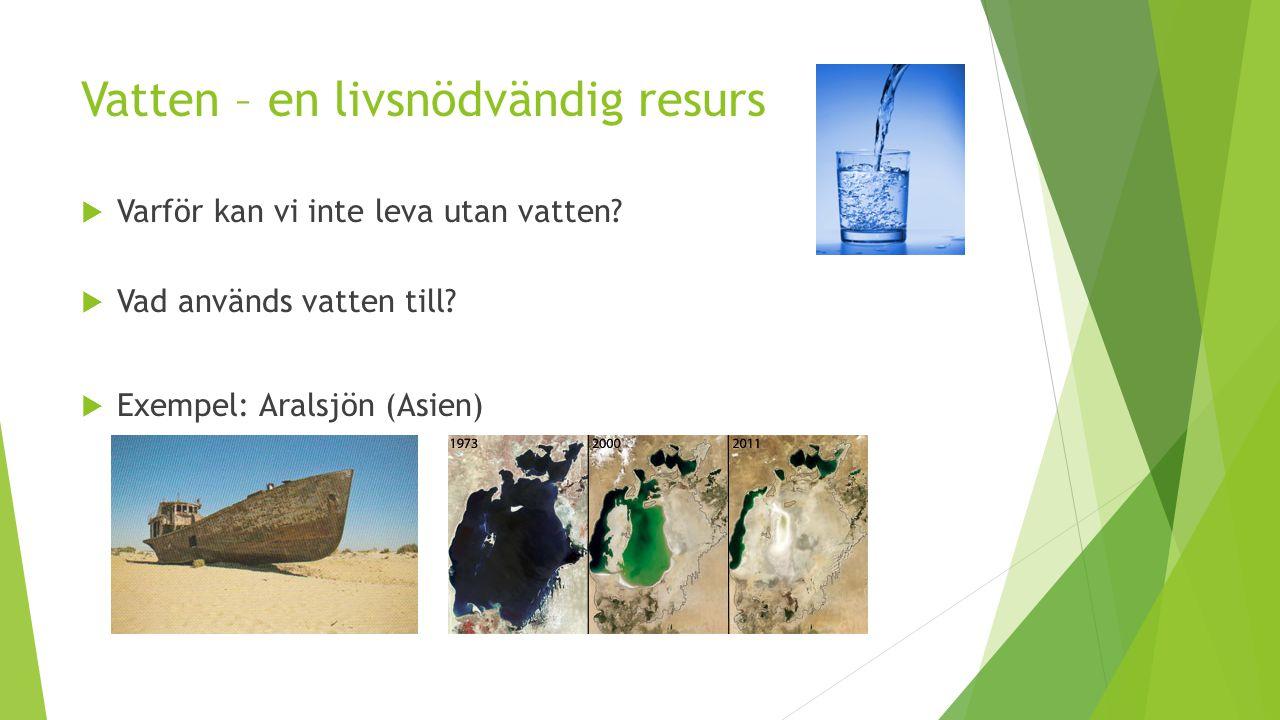 Vatten – en livsnödvändig resurs