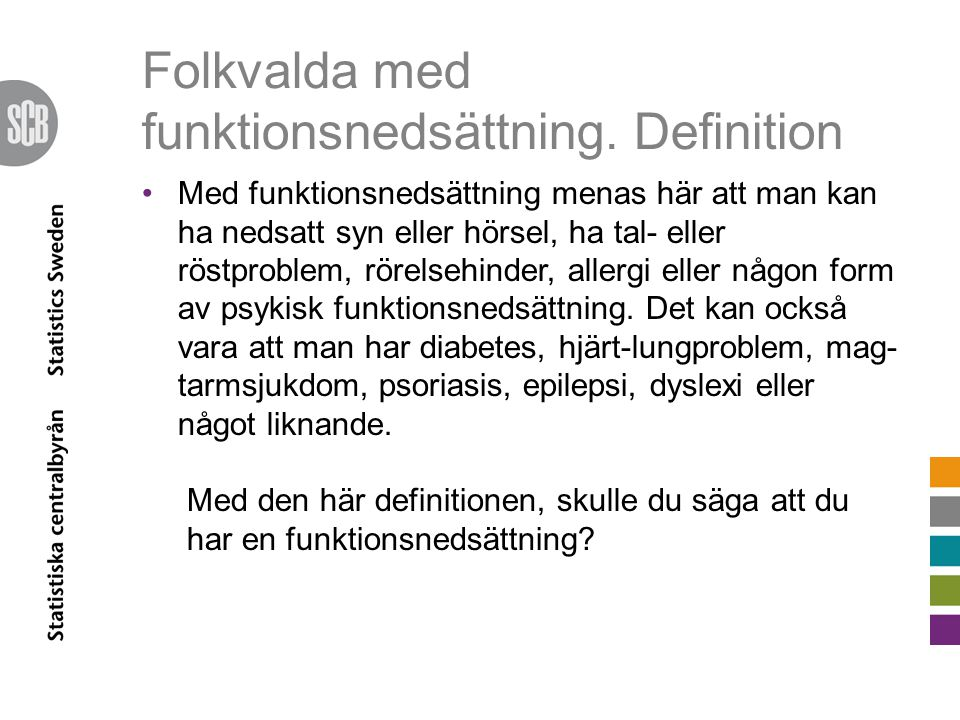Folkvalda med funktionsnedsättning. Definition