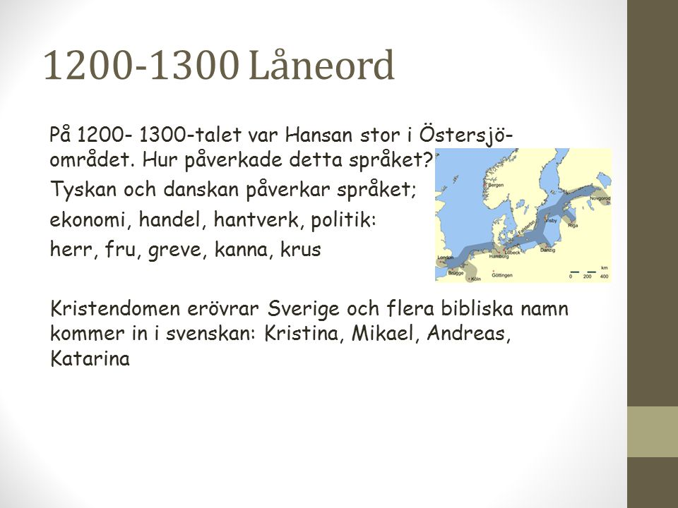 1200-1300 Låneord