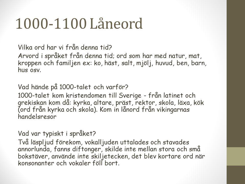 1000-1100 Låneord