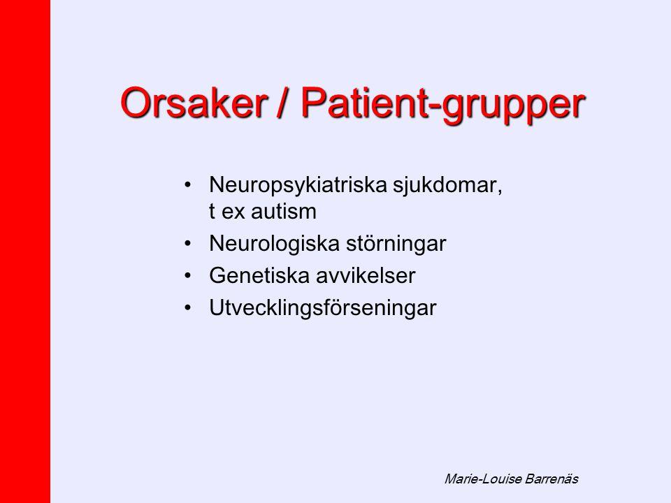 Orsaker / Patient-grupper