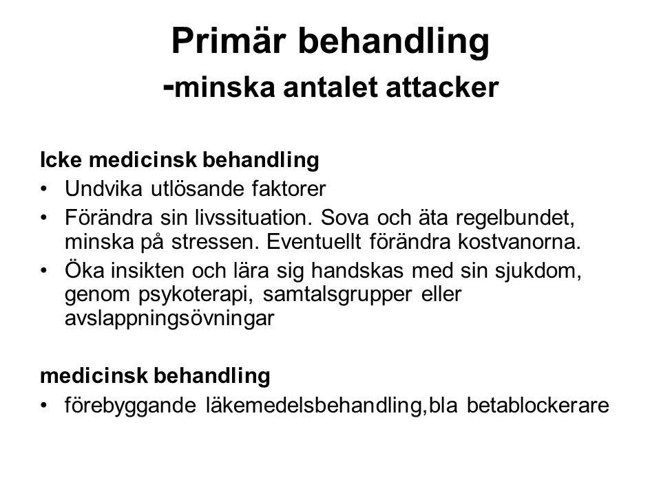 Primär behandling -minska antalet attacker