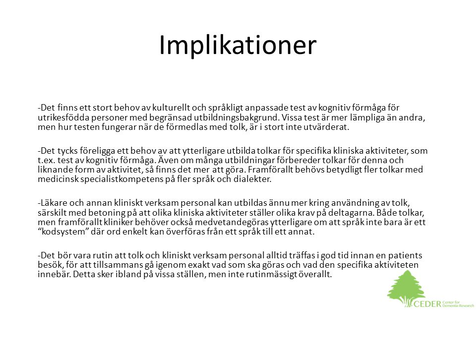 Implikationer
