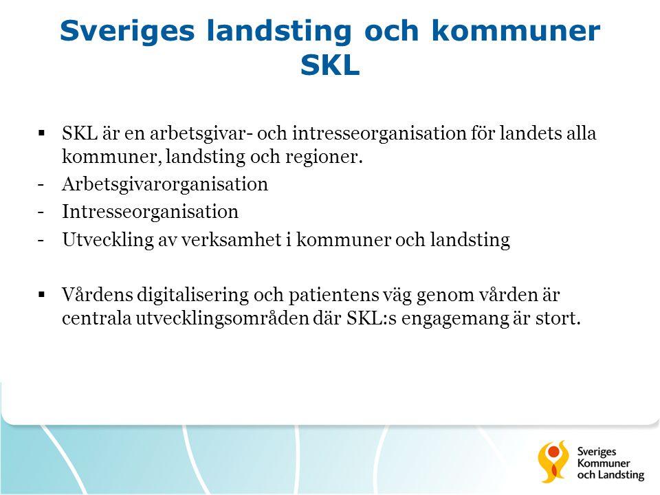 Sveriges landsting och kommuner SKL