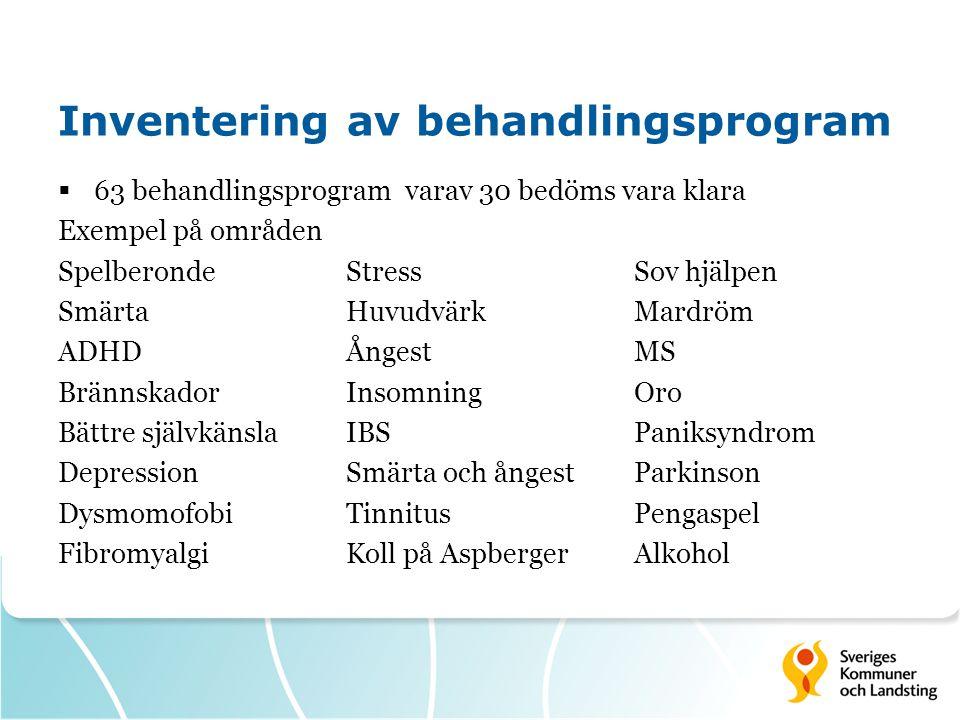 Inventering av behandlingsprogram
