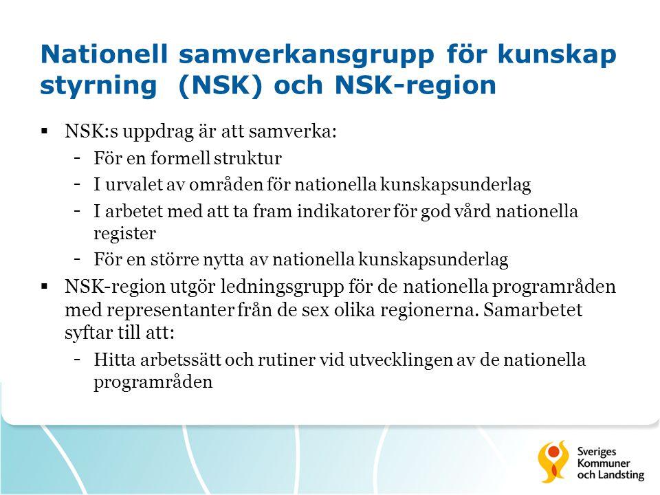 Nationell samverkansgrupp för kunskap styrning (NSK) och NSK-region