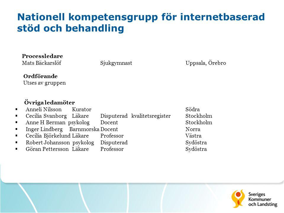 Nationell kompetensgrupp för internetbaserad stöd och behandling