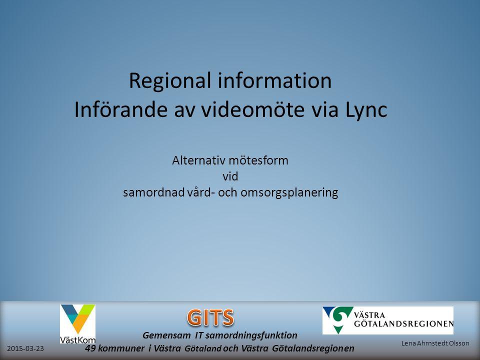 Införande av videomöte via Lync
