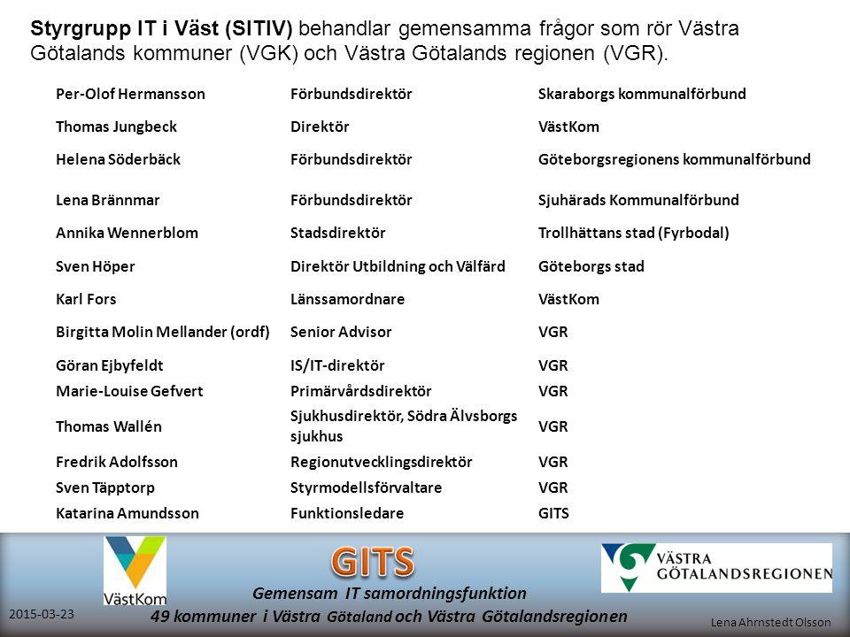 Styrgrupp IT i Väst (SITIV) behandlar gemensamma frågor som rör Västra Götalands kommuner (VGK) och Västra Götalands regionen (VGR).