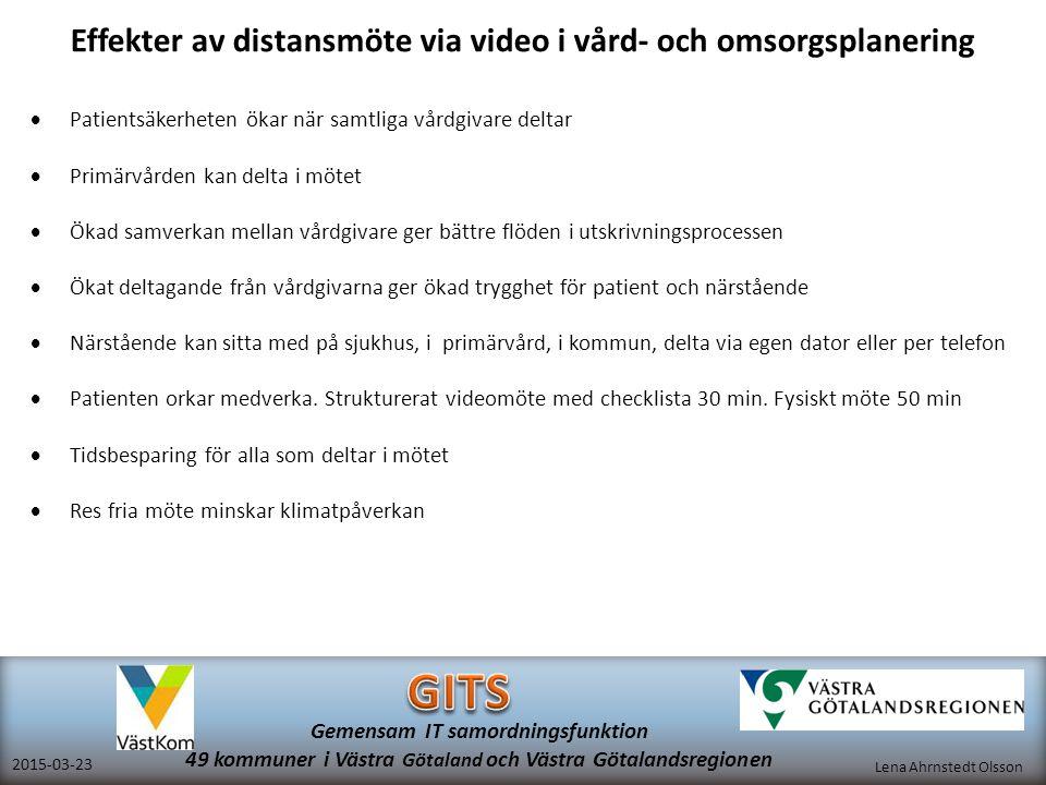 Effekter av distansmöte via video i vård- och omsorgsplanering