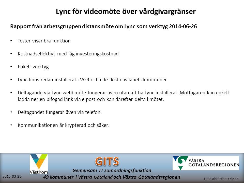 Lync för videomöte över vårdgivargränser