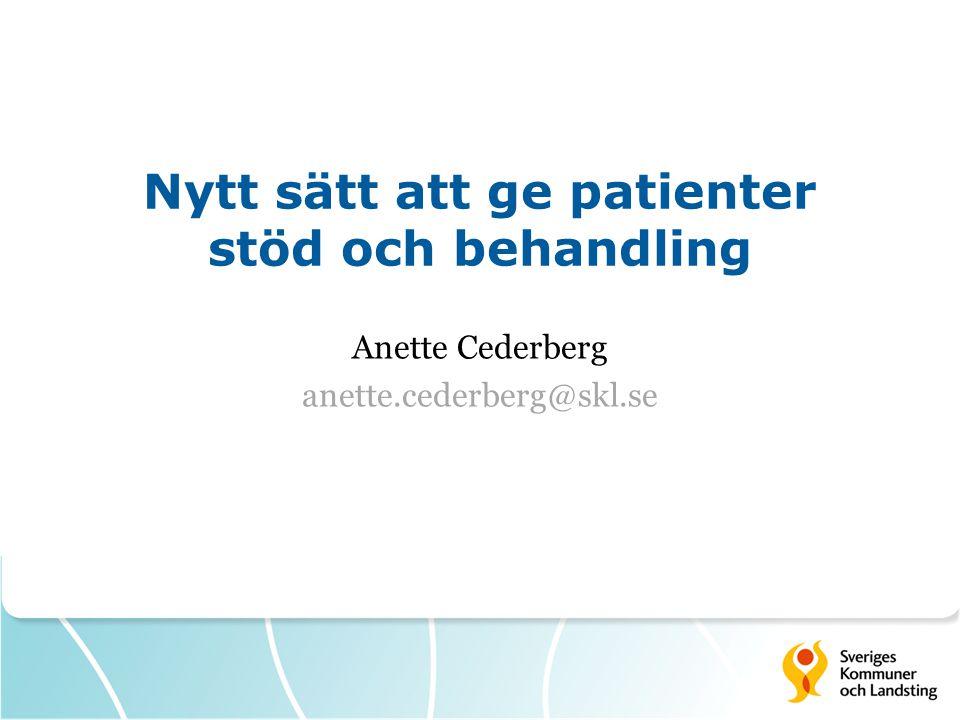 Nytt sätt att ge patienter stöd och behandling