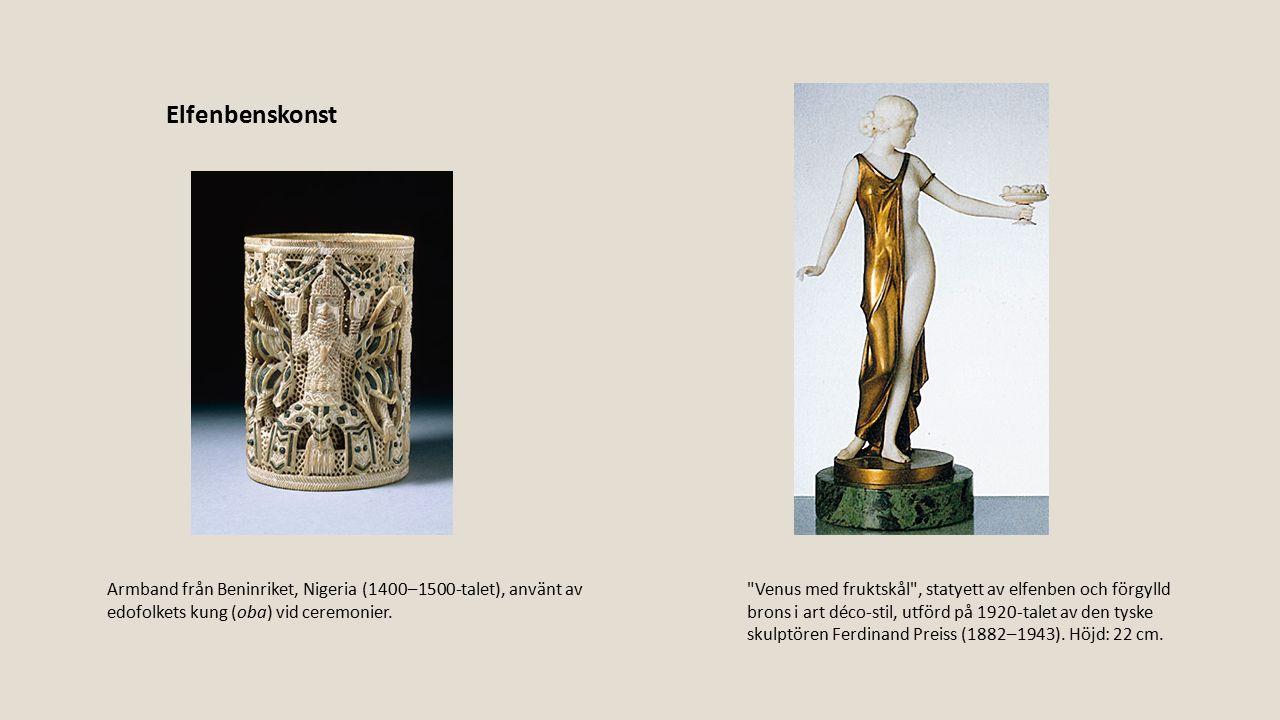 Elfenbenskonst Armband från Beninriket, Nigeria (1400–1500-talet), använt av edofolkets kung (oba) vid ceremonier.