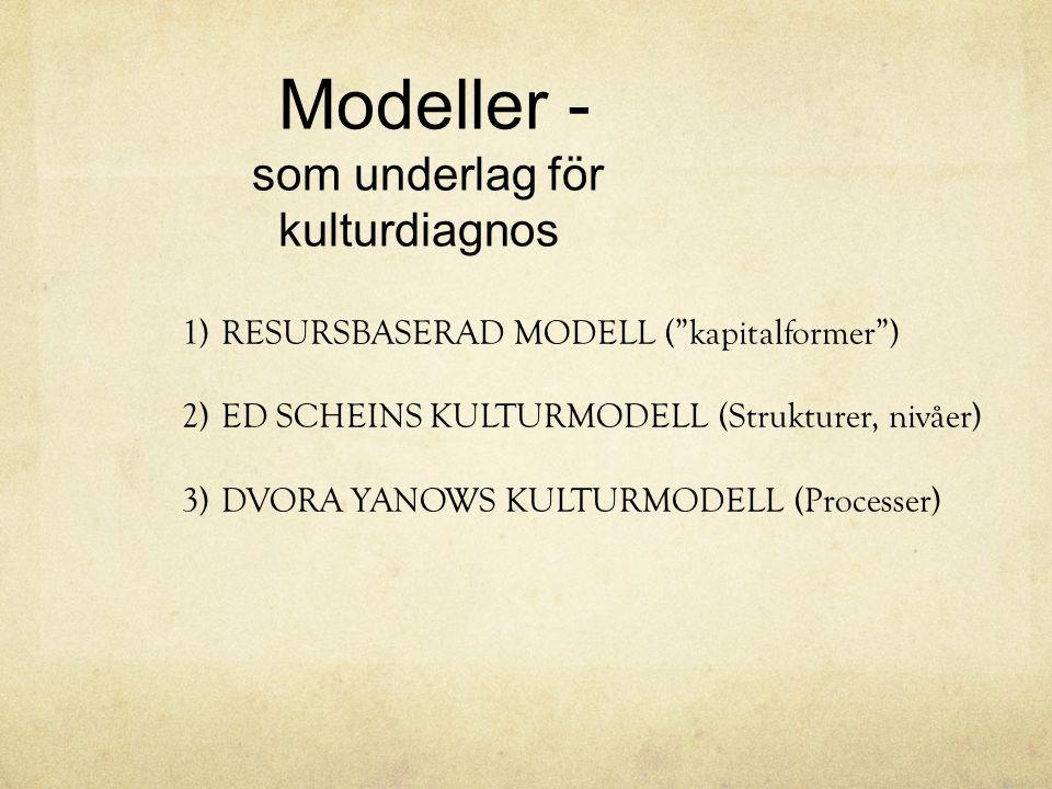 Modeller - som underlag för kulturdiagnos