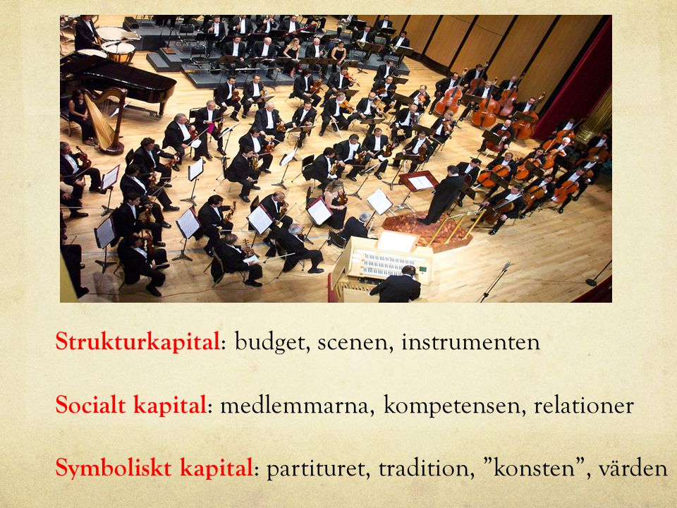 Strukturkapital: budget, scenen, instrumenten