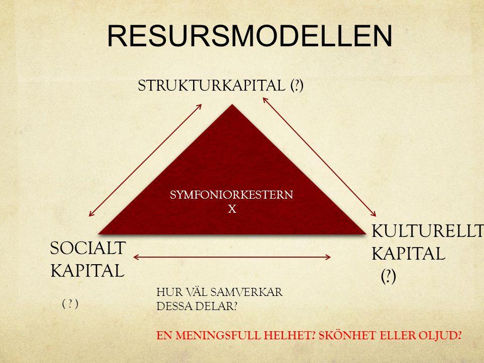KULTURELLT KAPITAL SOCIALT ( ) KAPITAL STRUKTURKAPITAL ( )