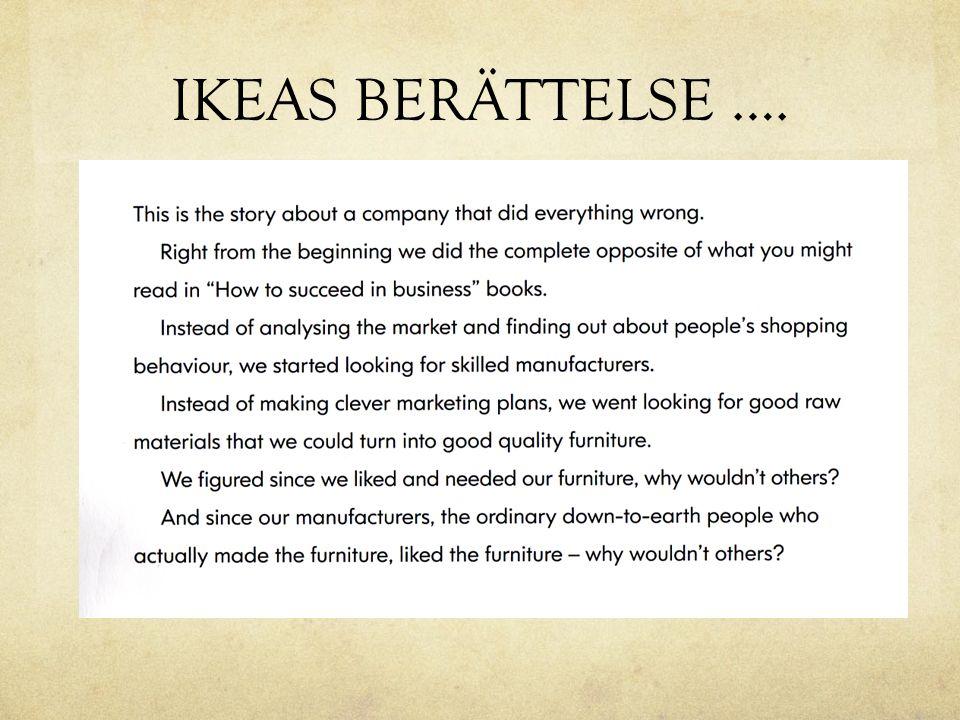IKEAS BERÄTTELSE ….