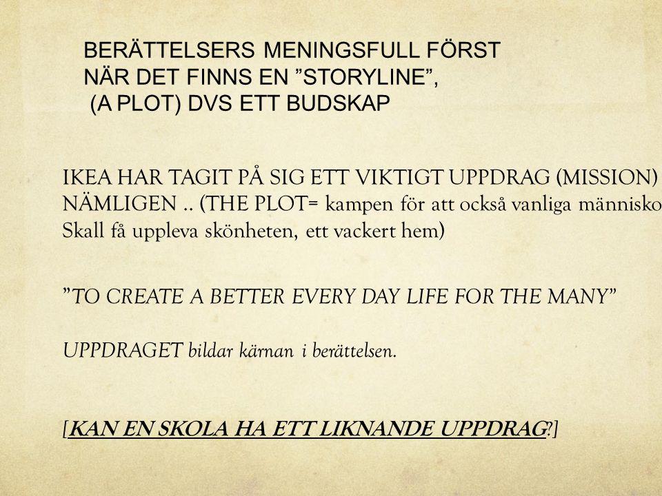 BERÄTTELSERS MENINGSFULL FÖRST