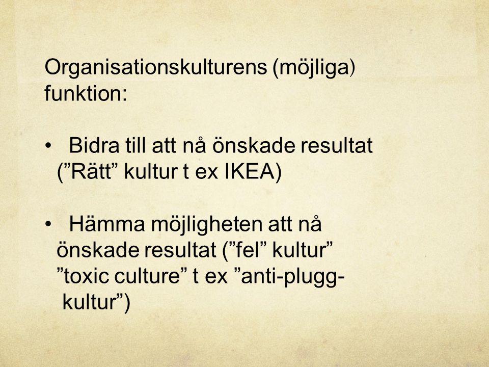 Organisationskulturens (möjliga)