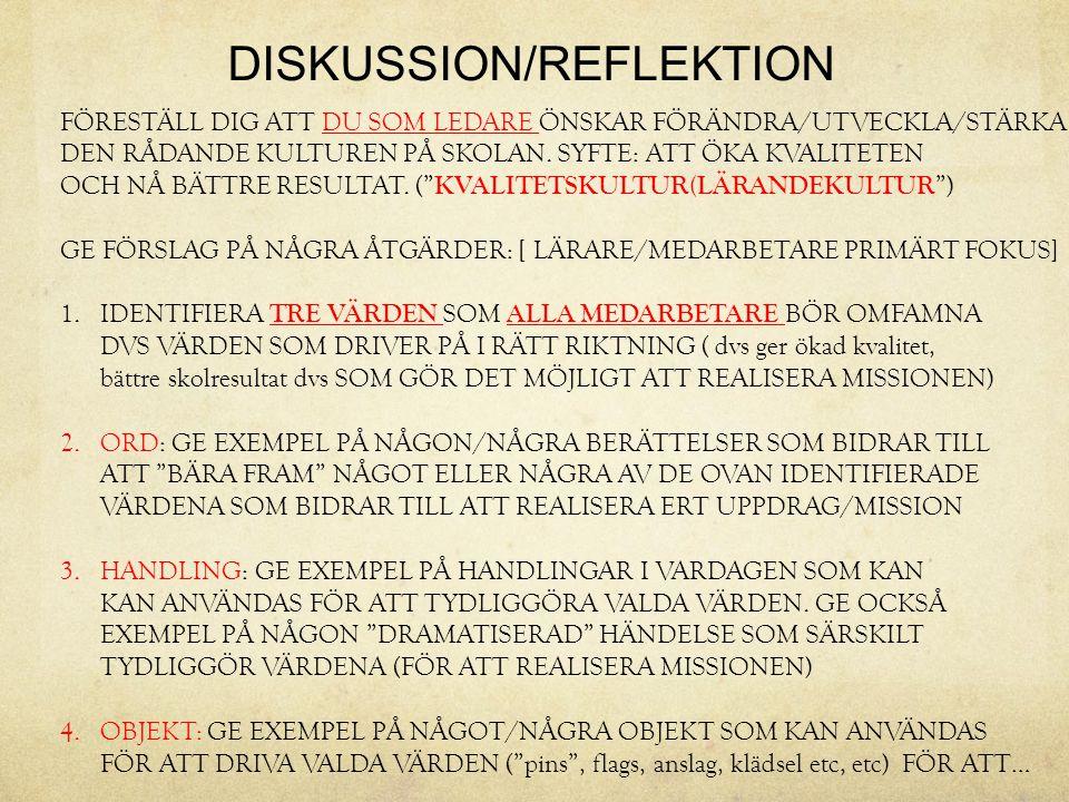 DISKUSSION/REFLEKTION