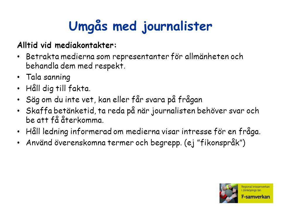 Umgås med journalister