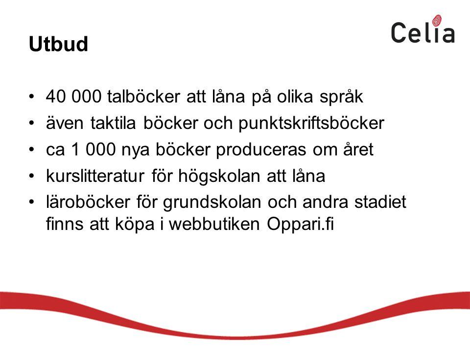 Utbud 40 000 talböcker att låna på olika språk