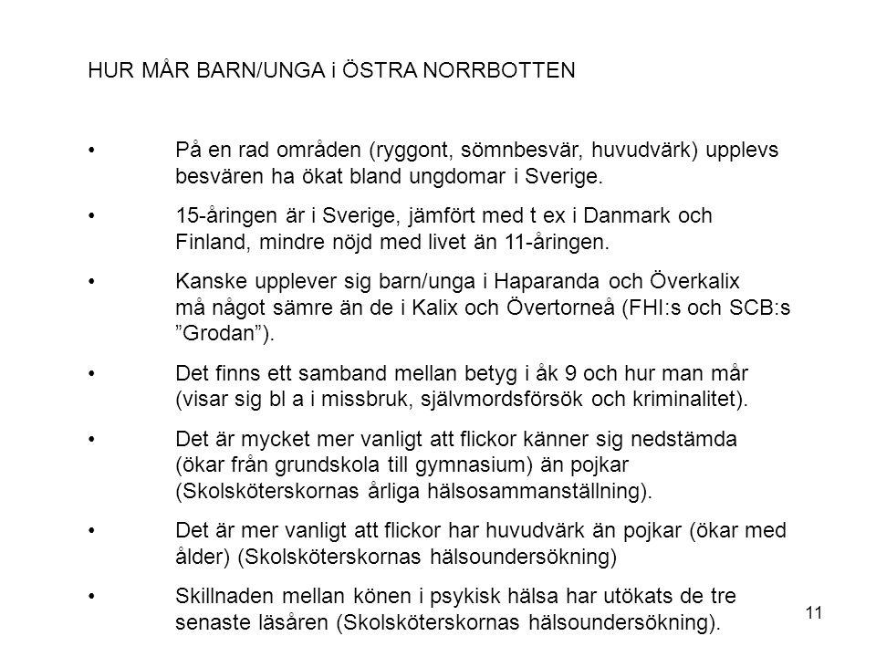 HUR MÅR BARN/UNGA i ÖSTRA NORRBOTTEN