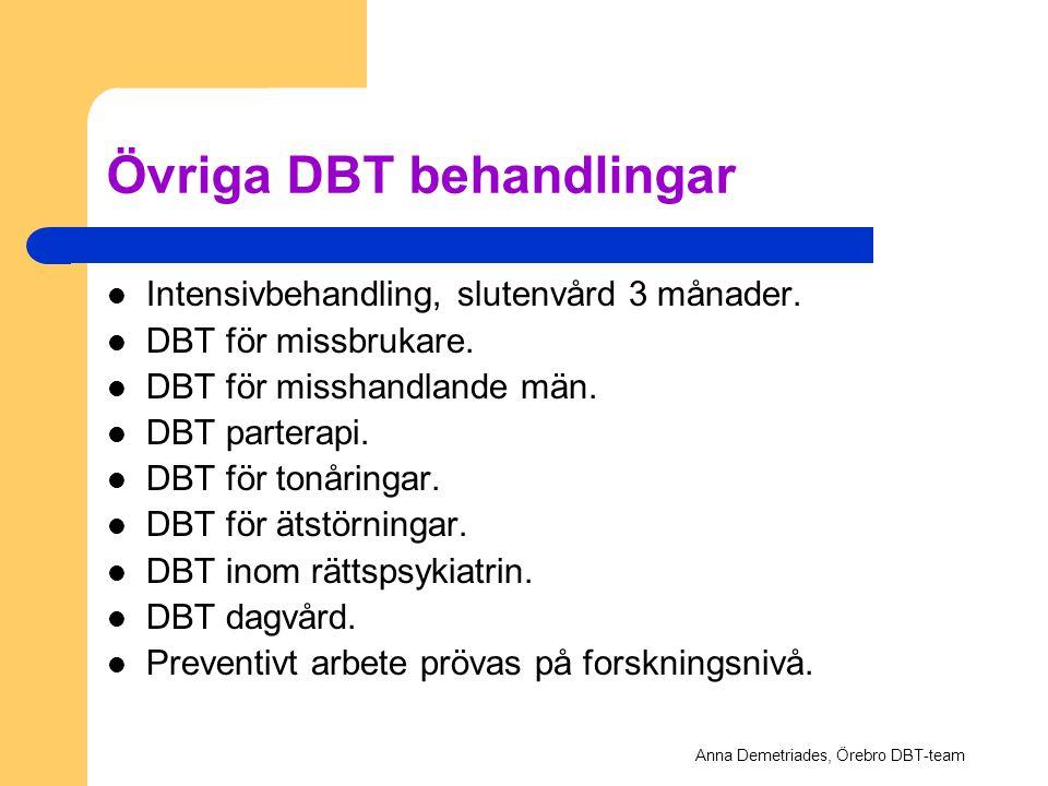 Övriga DBT behandlingar