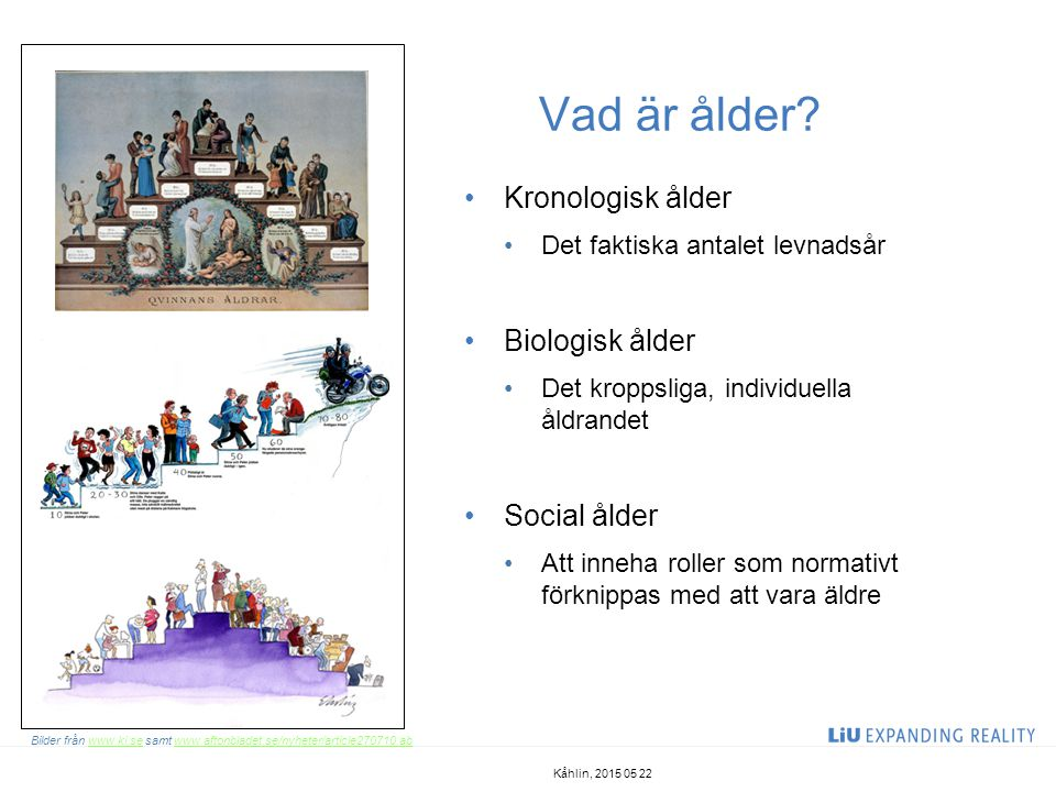 Vad är ålder Kronologisk ålder Biologisk ålder Social ålder