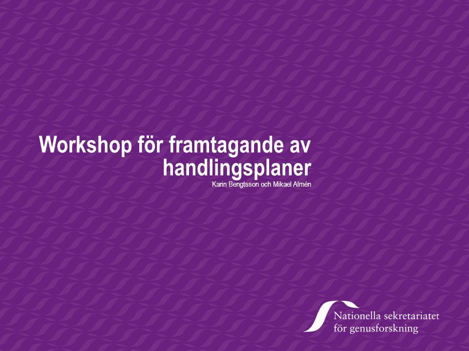 Workshop för framtagande av handlingsplaner
