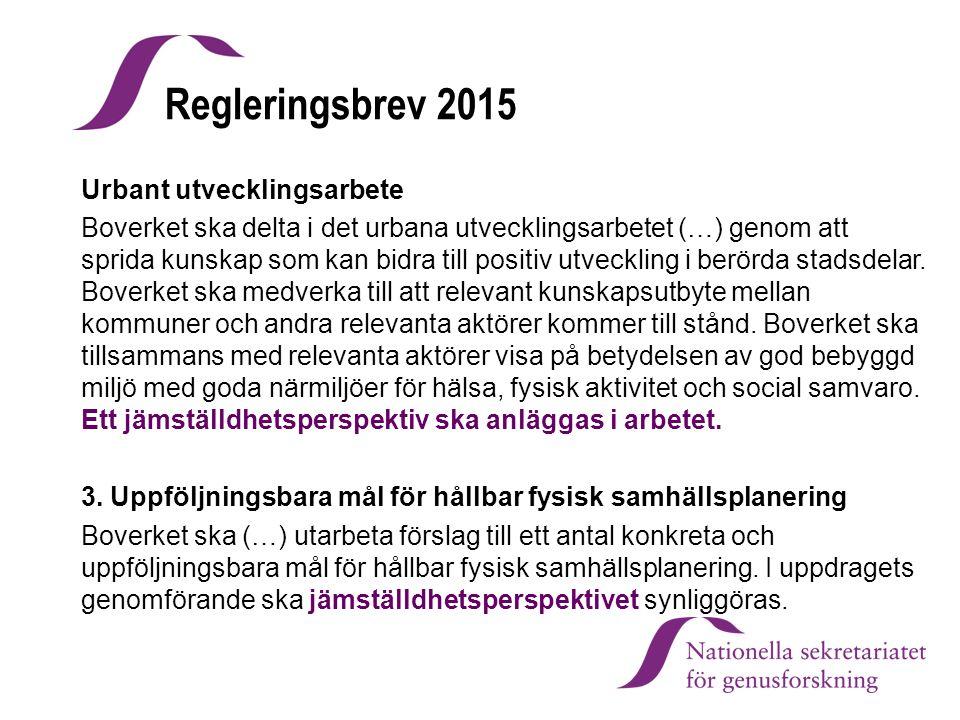 Regleringsbrev 2015 Urbant utvecklingsarbete