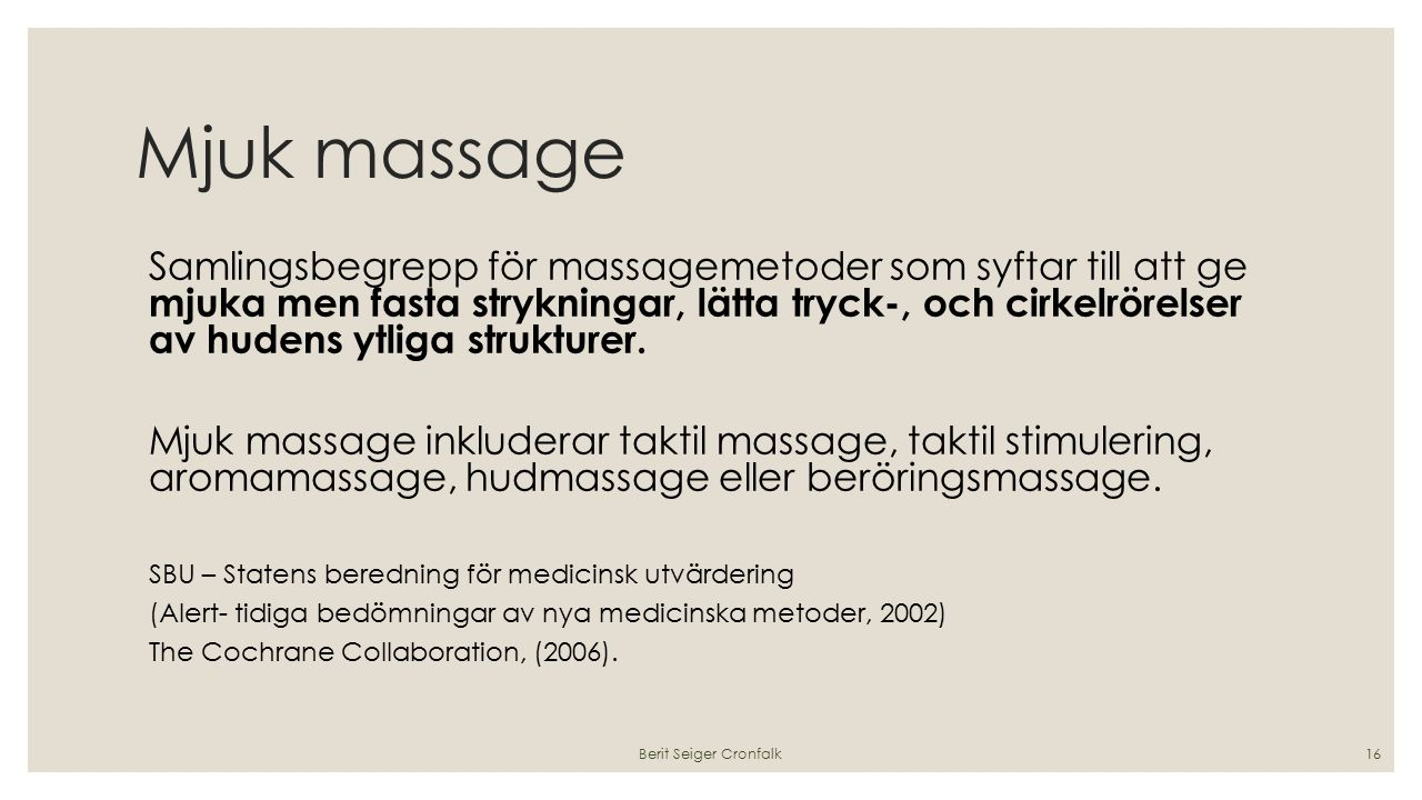 Mjuk massage