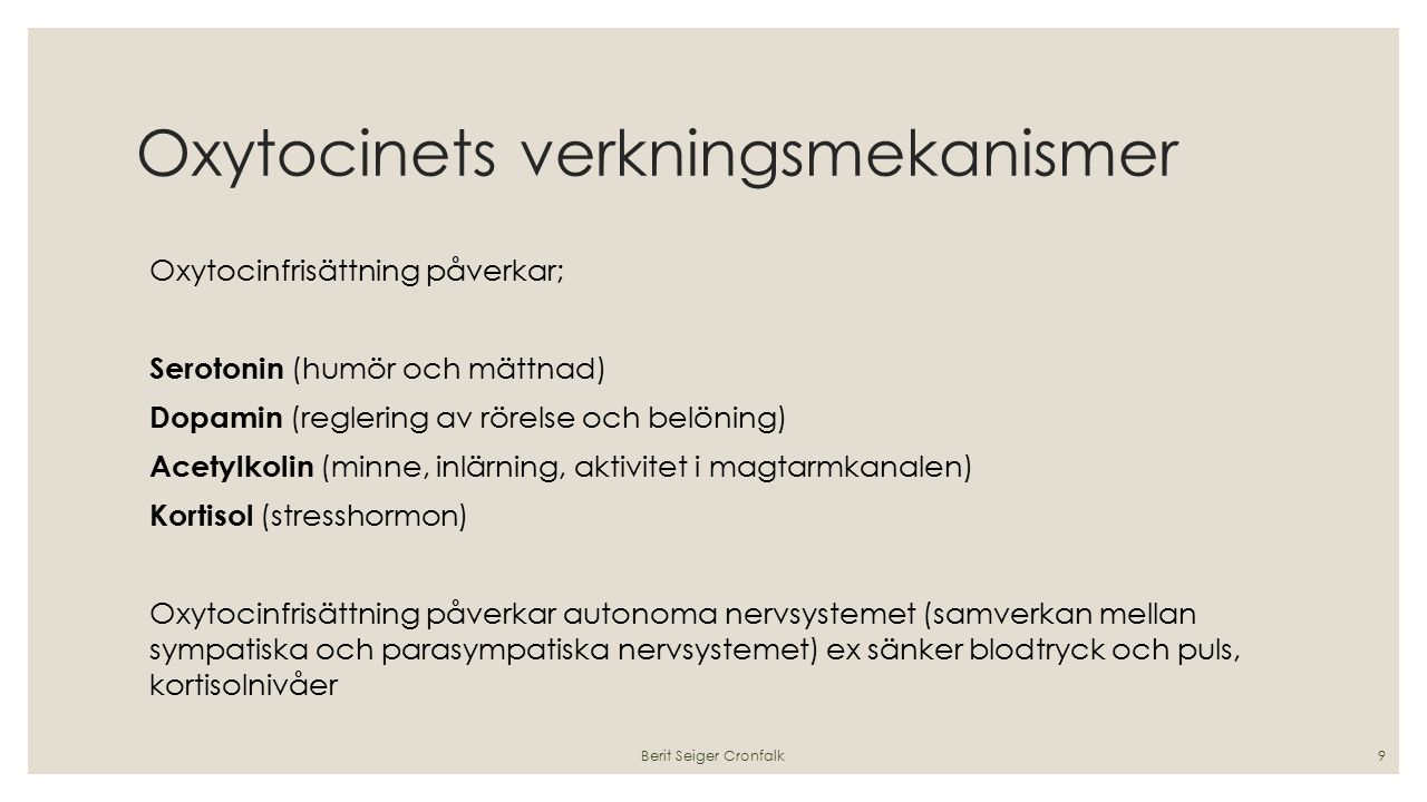 Oxytocinets verkningsmekanismer