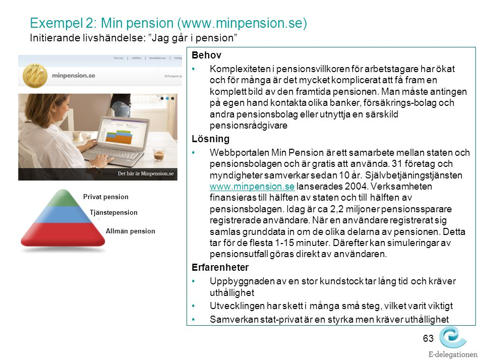 Exempel 2: Min pension (www. minpension