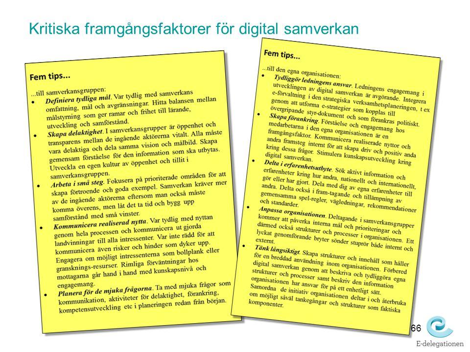 Kritiska framgångsfaktorer för digital samverkan