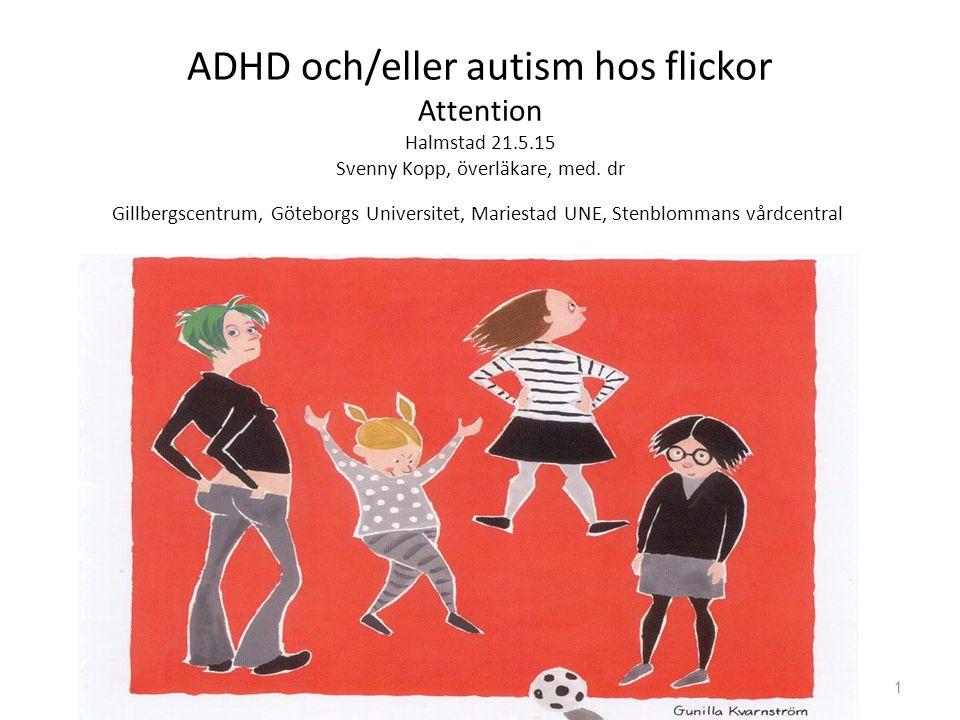 ADHD och/eller autism hos flickor Attention Halmstad 21. 5